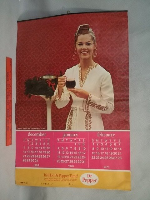 4-Page 1970 Dr Pepper Girl Calender