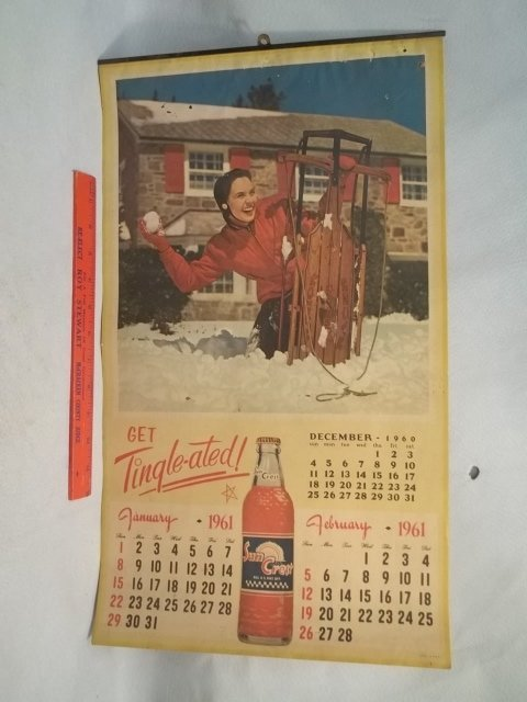 5-Page 1961 Suncrest Girl Calender