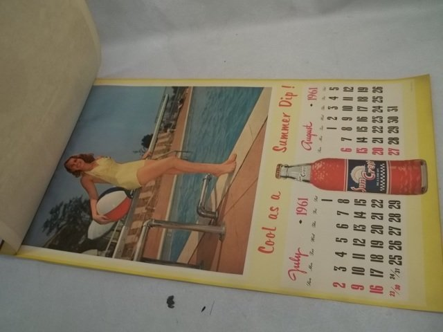5-Page 1961 Suncrest Girl Calender - 2