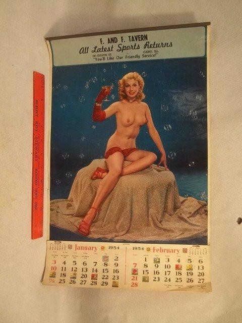 1954 Cairo Illinois Pin Up Girl Calender