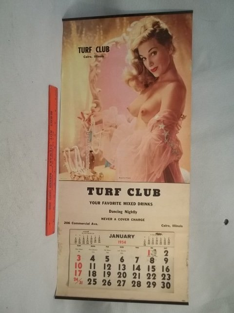 1954 Cairo Illinois Pin Up Girl Calender
