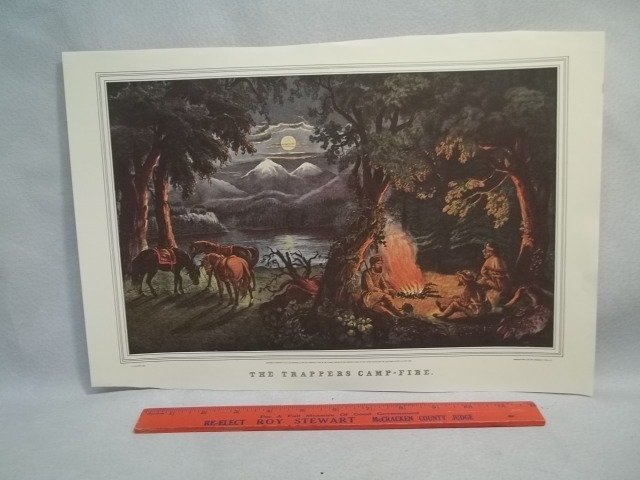 Currier And Ives Print (Old Reprint)