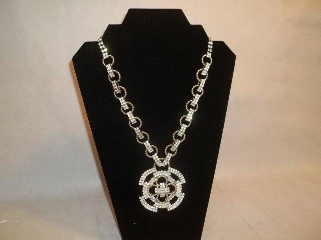 Rare Amazing Vintage Hobe Designer Rhinestone Necklace