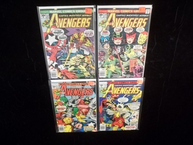 4 1970s The Avengers Comic Books