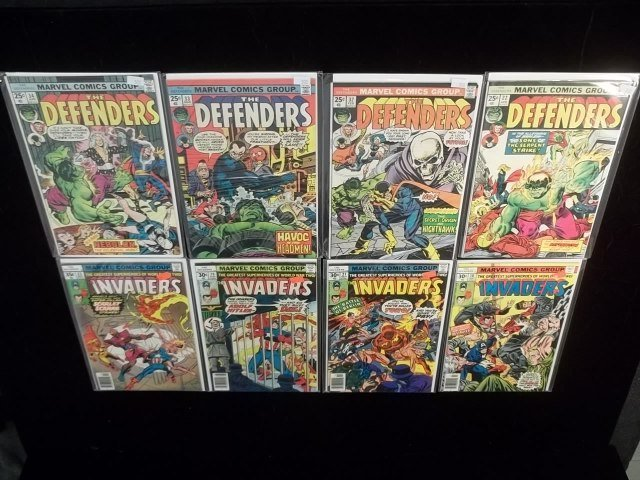 8 1970s Defenders & Invaders Comic Book Lot