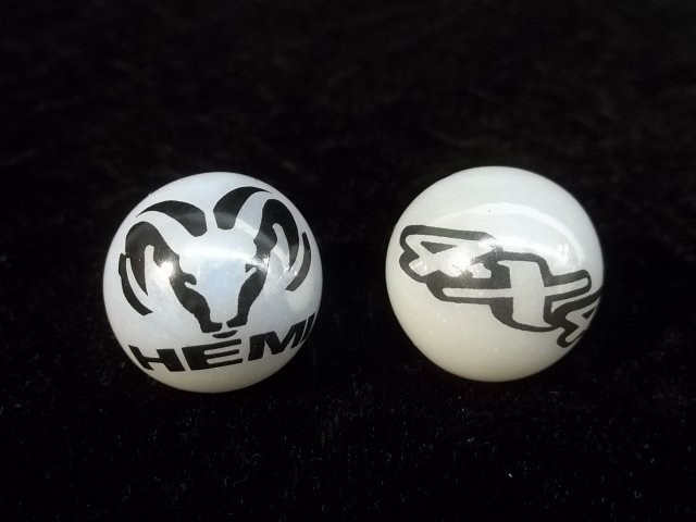 2 Dodge Hemi Shooter marbles