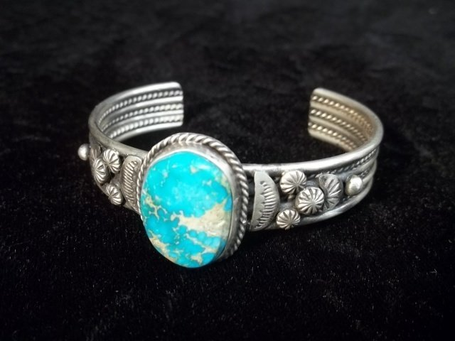 Betty Lee Sterling Kingman Turquiose Bracelet