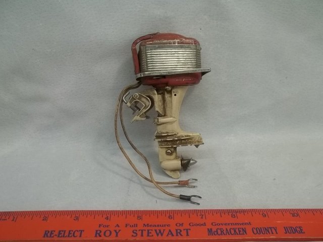 Old Mercury Toy Boat Electric Engine RARE