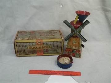 Antique No 26 Mac Dutch Mill Tin Litho Toy w Box Nice