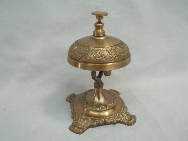 Tall Brass Lobby Bell