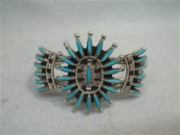 Gerald B East Zuni Turqiuose Bracelet