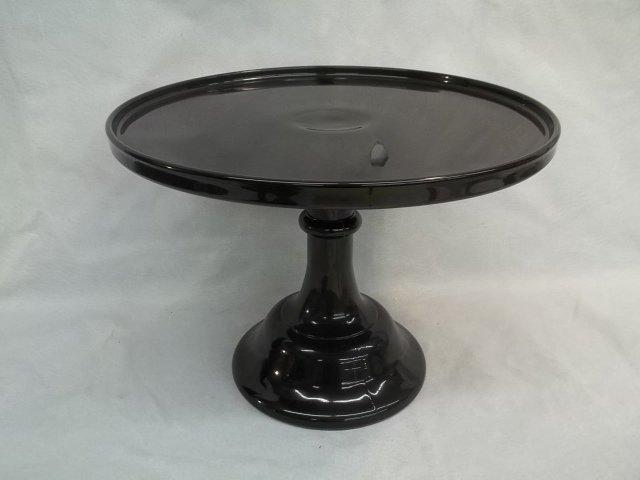 "Nice 12"" Black Amethyst Cake Plate"