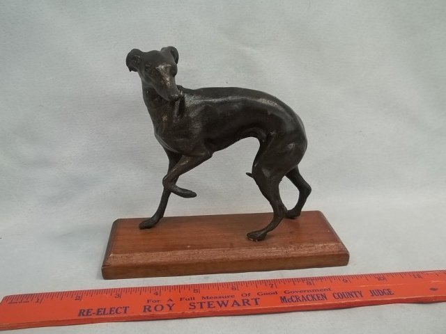 Bronze Greyhound Statue