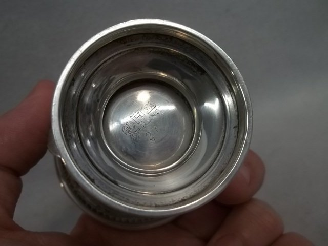 Solid Sterling Silver Toothpick Holder 62g - 2