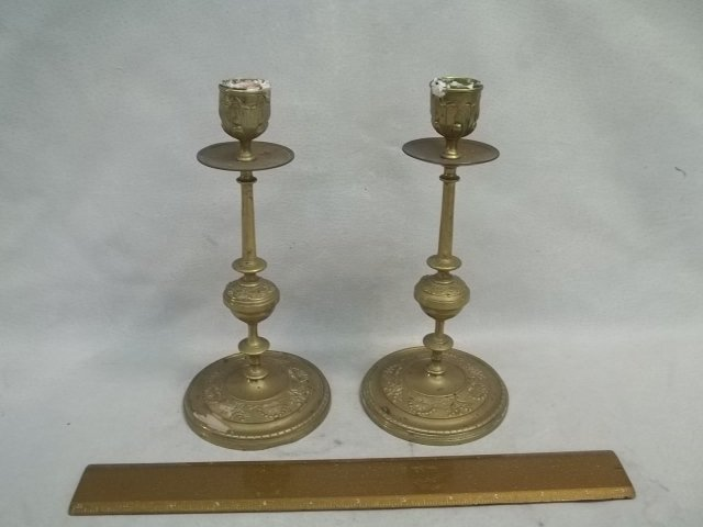 Old Brass Candle Sticks