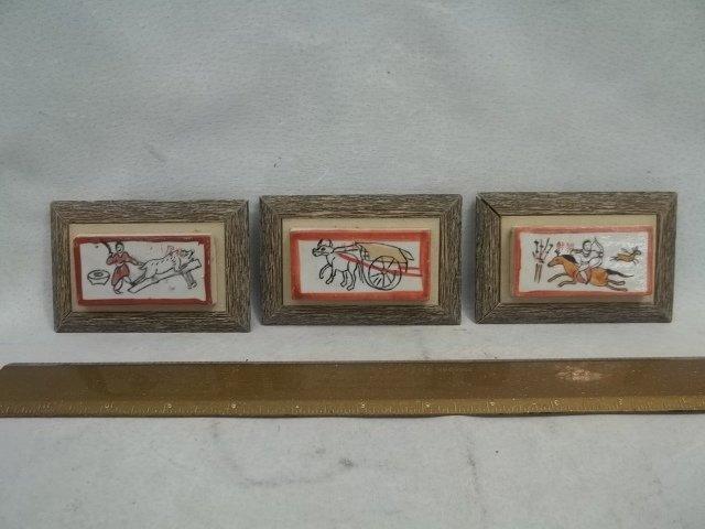 3 Oriental Porcelain Tiles