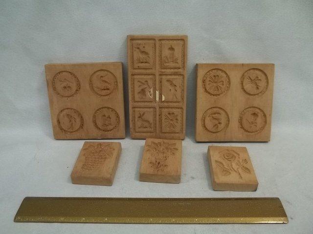 6 Wood Butter Molds