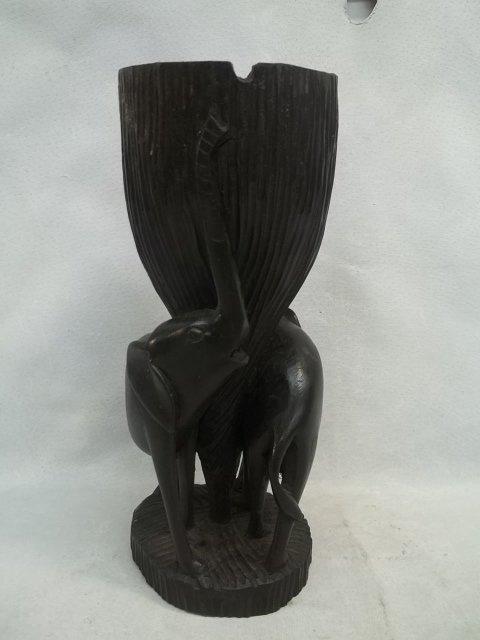 Blackwood Ebony Elephant Tray 9 Inch