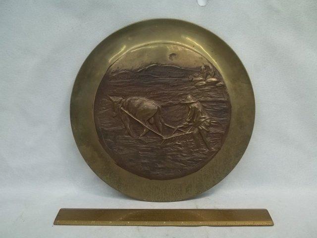 Solid Brass oriental Farmer Plate