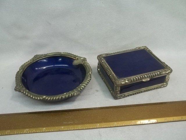 Enameled Box & Tray Set Royal Buoano