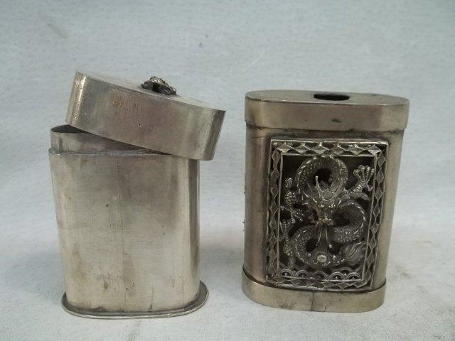 Vintage Oriental Dragon Matchstick Container