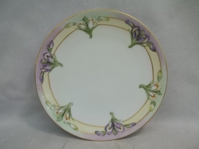 Hand Painted Thomas Sevres Bavaria Plate 8.5 Inch