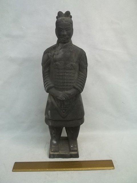 """Oriental Terracotta Statues 18""""tall"""