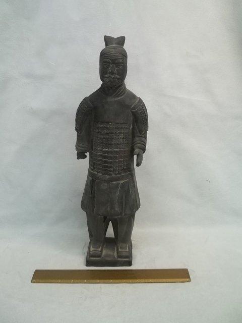 """Oriental Terra Cotta Statues 18"""" tall"""