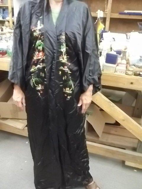 Vintage XL Japanes Golden B. Kimono Robe