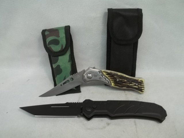 2 Button Action Knives