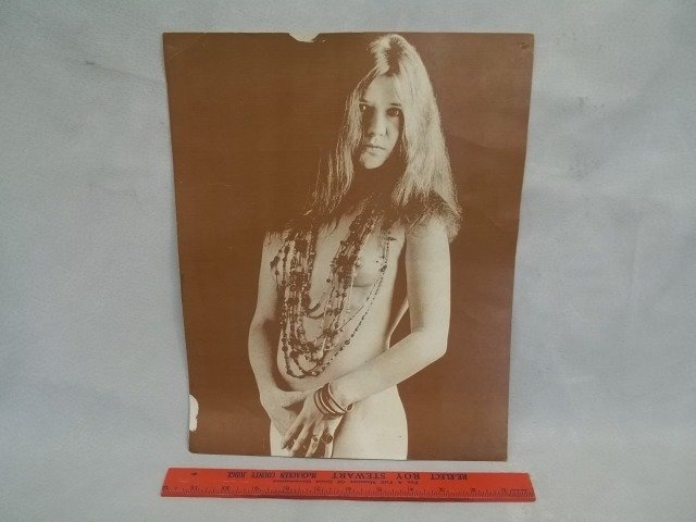 Old Photo Print Nude Janis Joplin