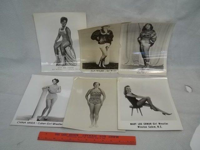6 Vintage Female Wrestling Photos