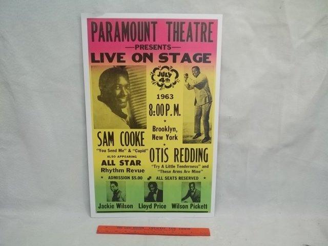 Sam Cooke otis Redding Concert poster