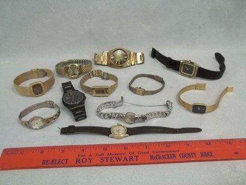 Vintage Watch Lot Seiko Timex Gucci