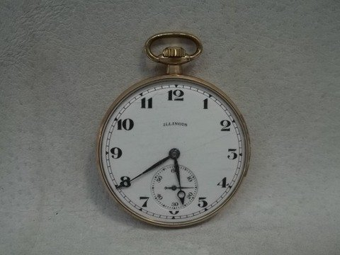 Old Illinois Pocket Watch 17 Jewels