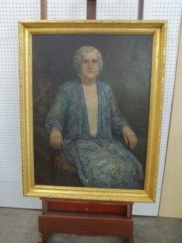 JW Vale 1930 Oil On Canvas Portrait Painting