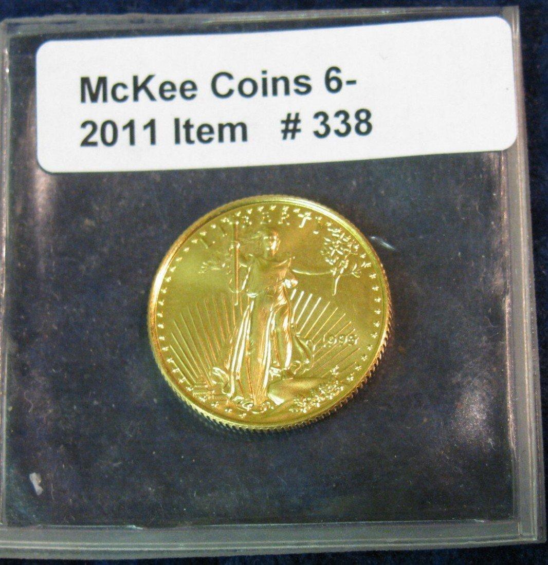 338: 338. 1995 U.S. Ten Dollar Gold American Eagle 1/4
