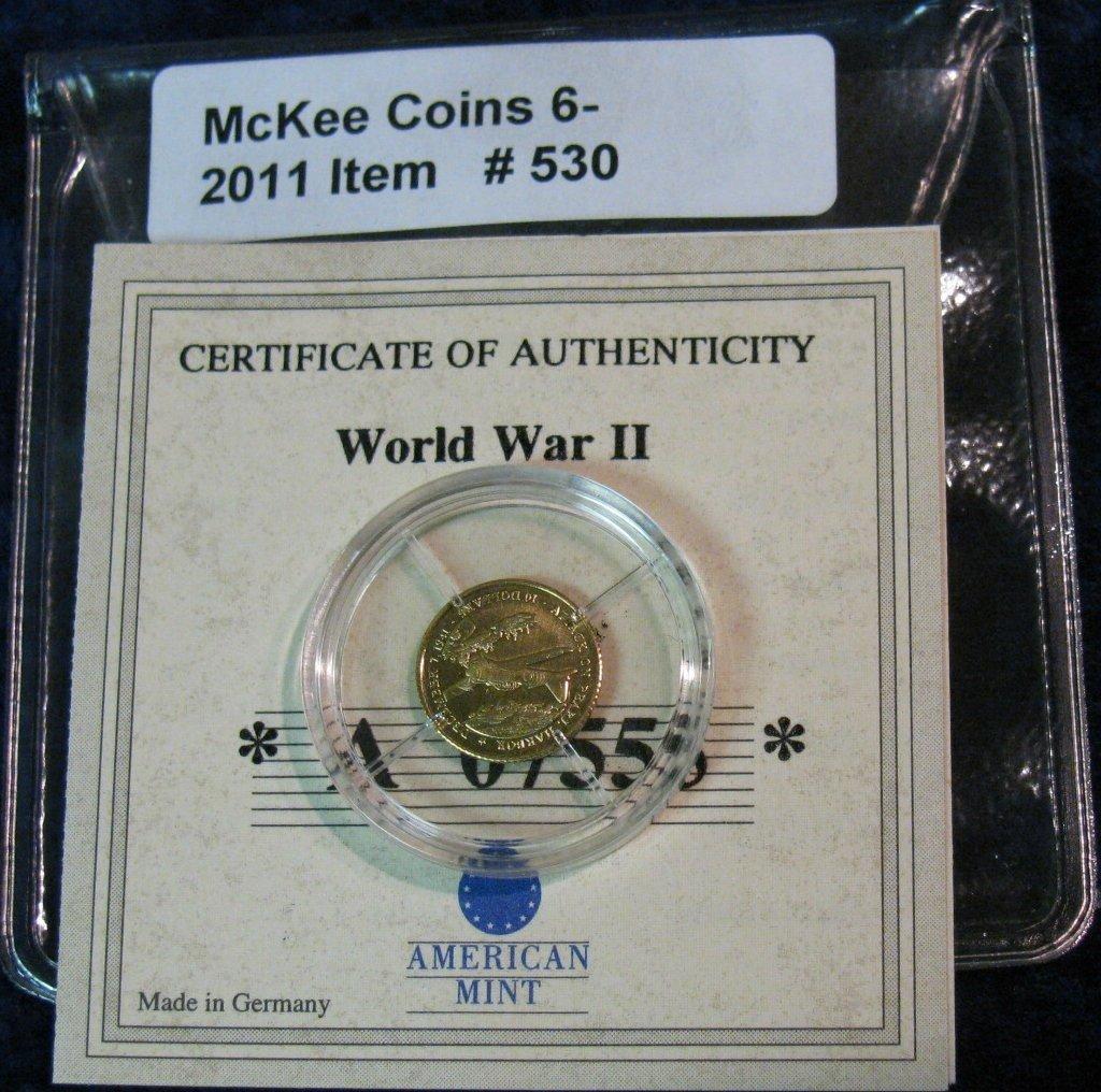 530: 530. 2001 Republic of Liberia $10 Proof Gold Piece