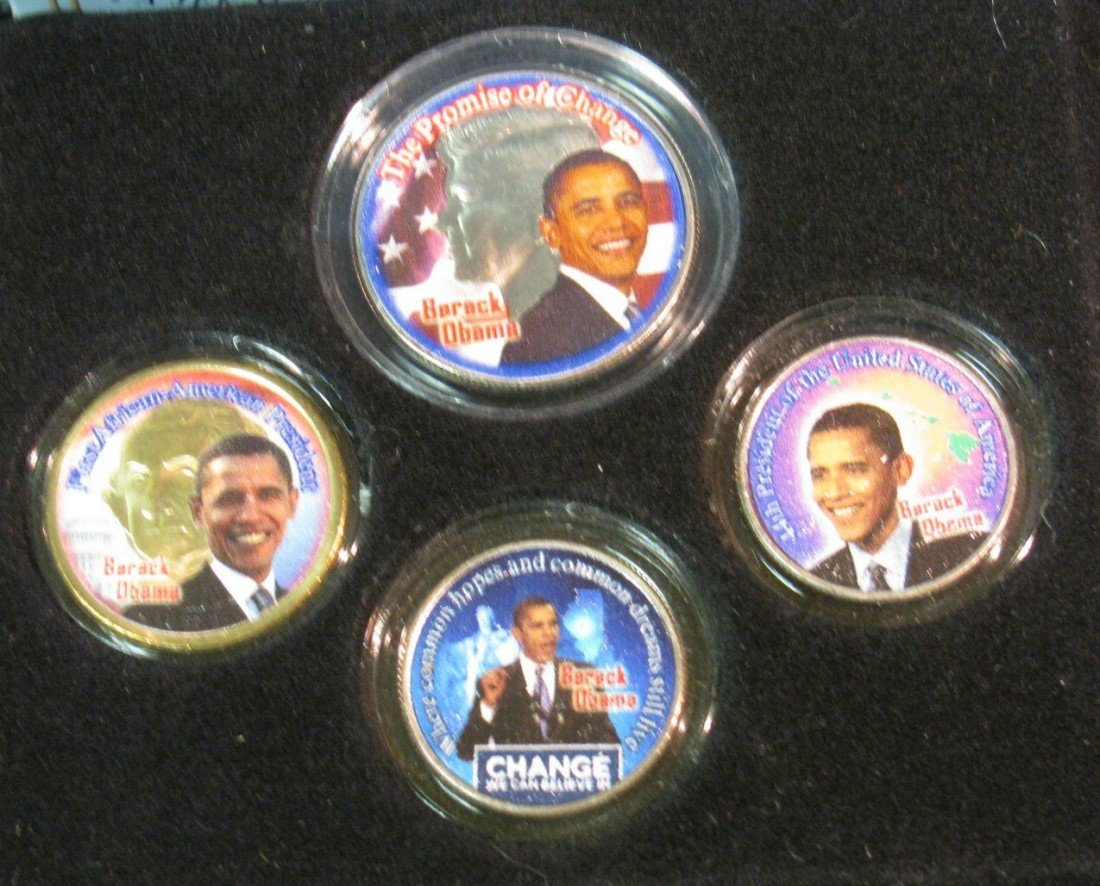 996: 996. Obama Change Collection, Colorized Coin Set.