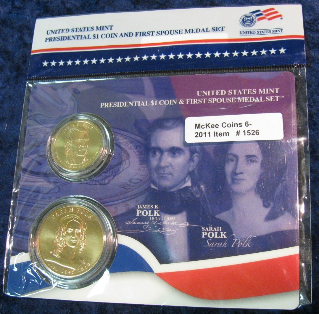 1526: 1526. James Pold Dollar & Spouse Medal. BU