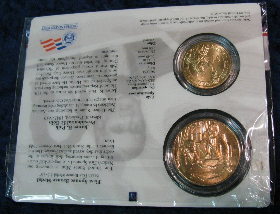 1526: 1526. James Pold Dollar & Spouse Medal. BU - 2