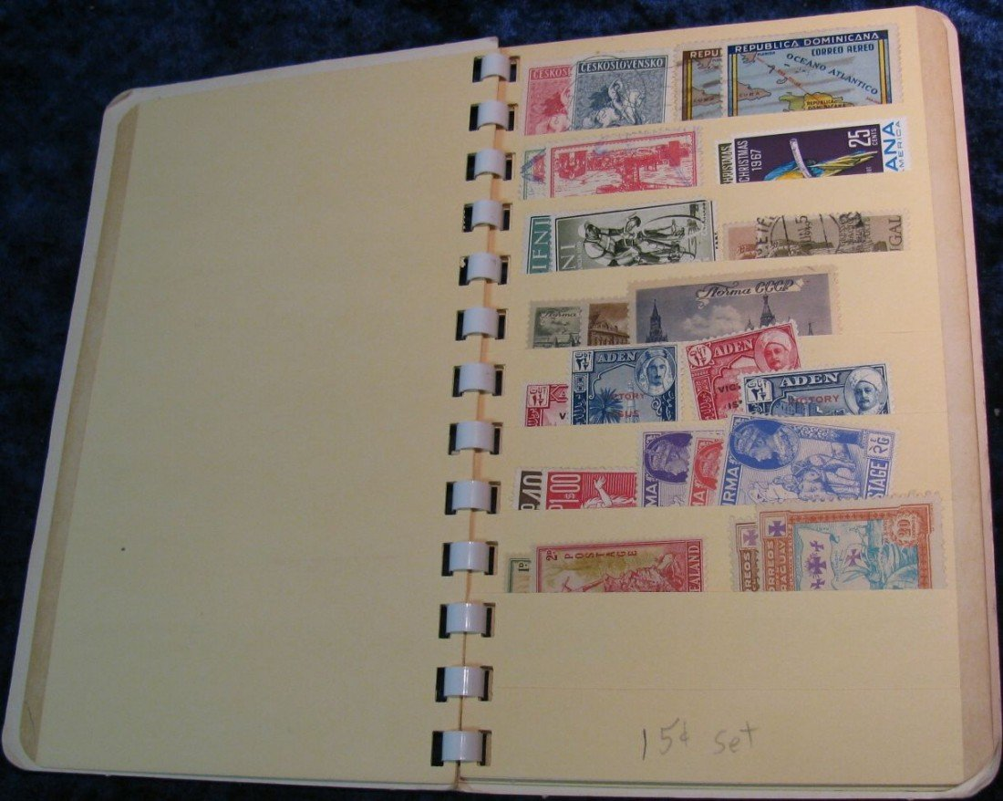 10. Stamp Collector's Stock Book. Including lots of Sta