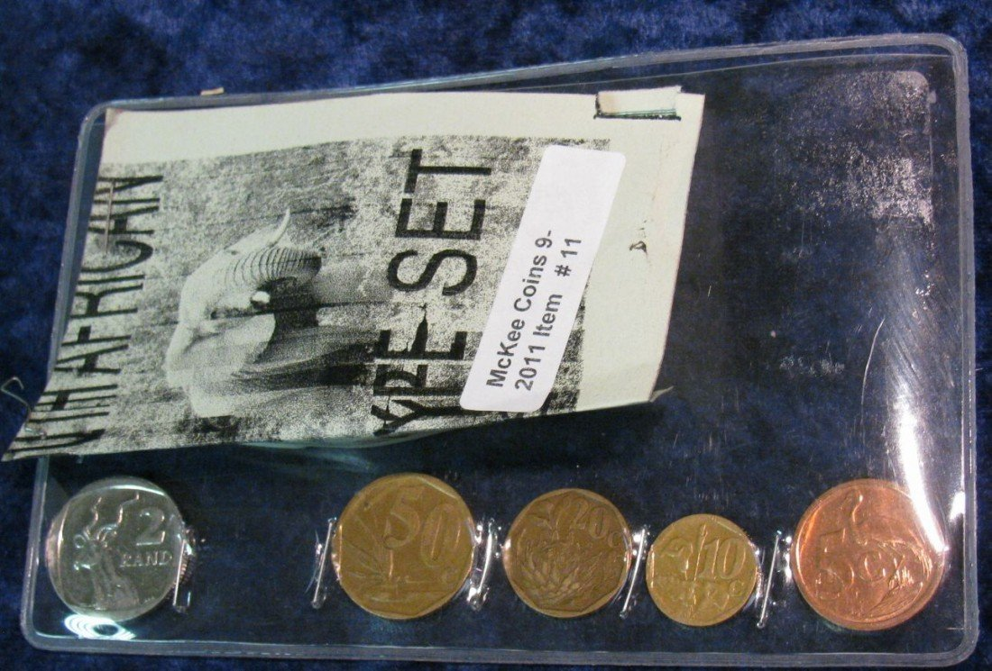 11. Five-Piece South African Type Set of Coins. Include