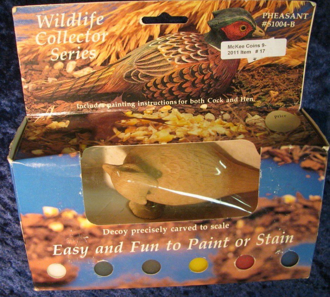 17. Wildlife Collector Series Pheasant. Easy and Fun to