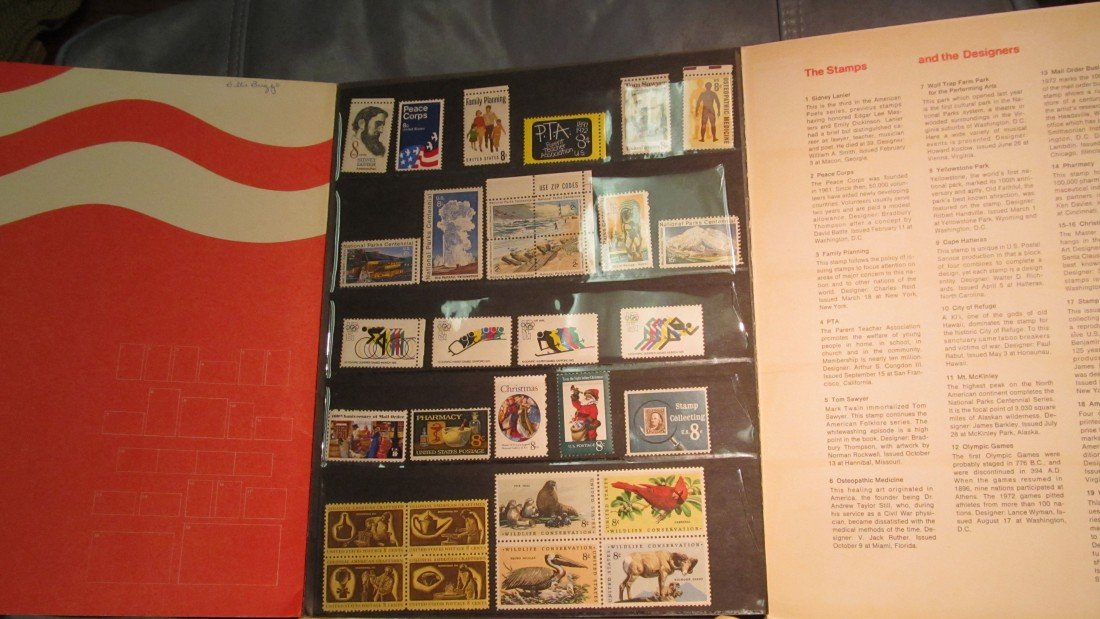 803. 1972 Commemorative Stamp Year Set. (81) Mint Stamp