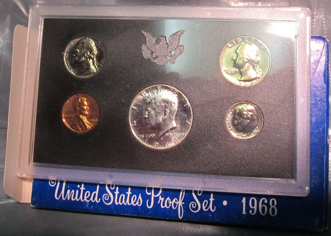 822. 1968S US Proof Set. Original as Issued.