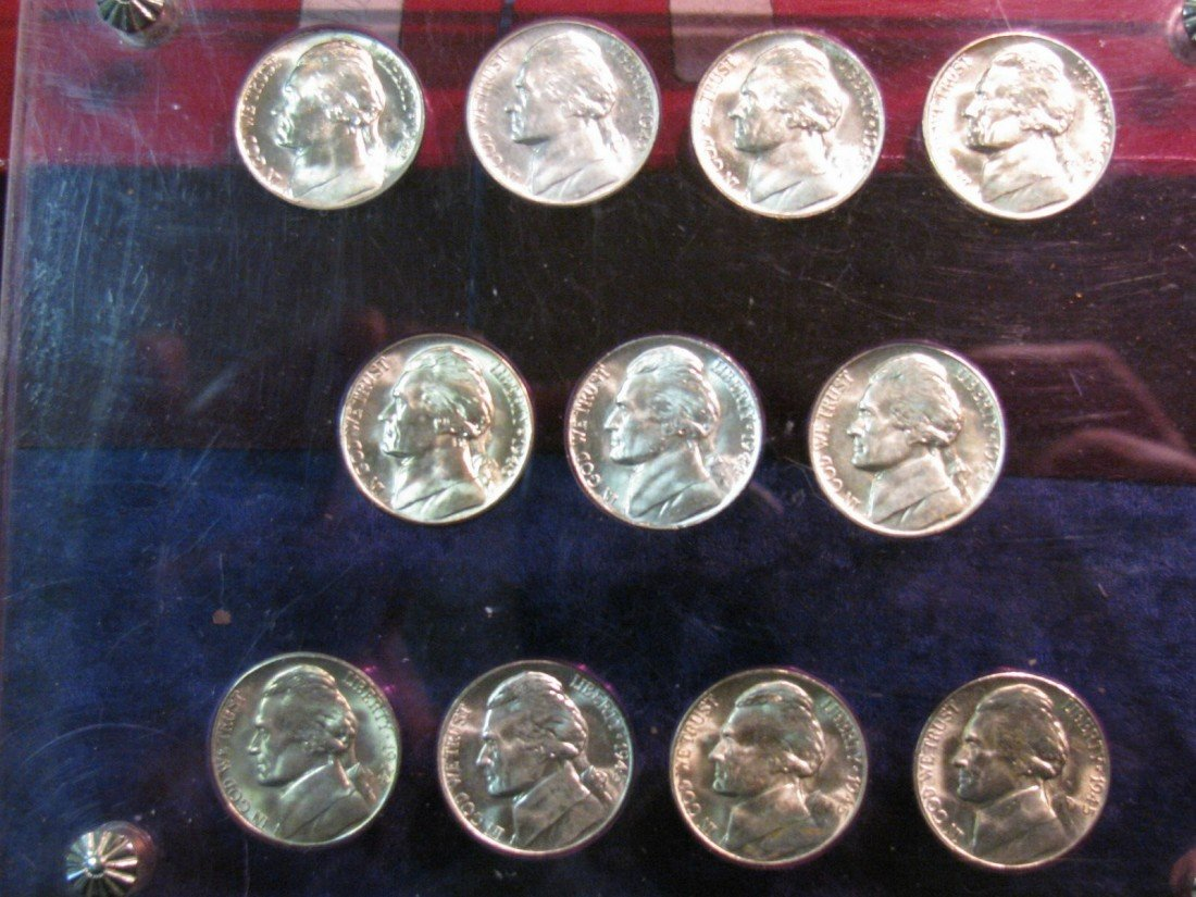 3. World War II Silver Nickel Set in Special holder. Ge
