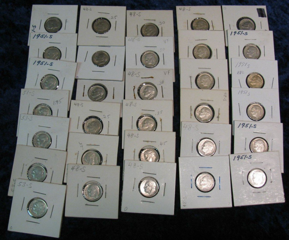 8. (31) San Francisco Mint Silver Dimes. All carded.