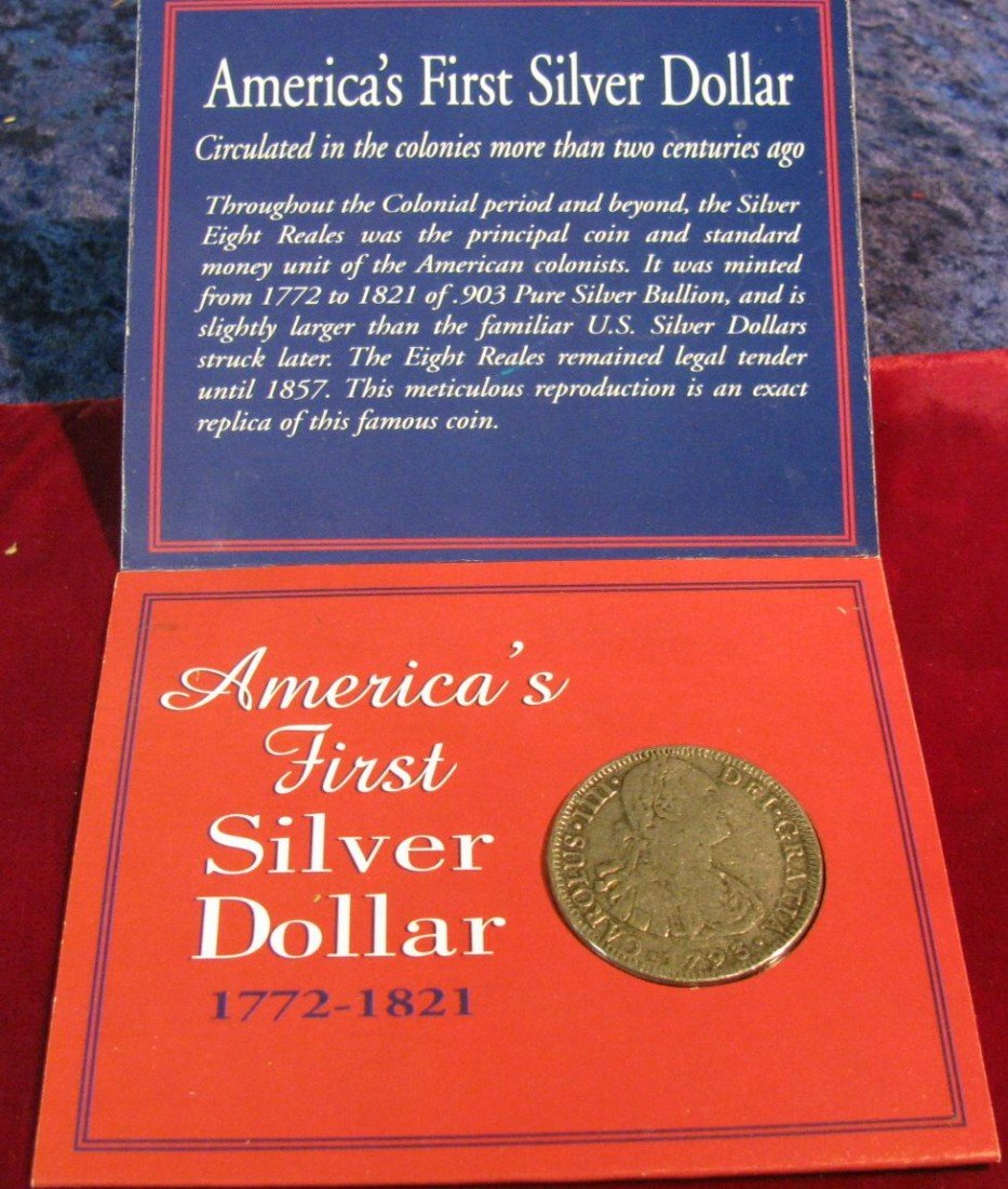 """330. 1772-1821 """"America's First Silver Dollar"""" Reproduc"""