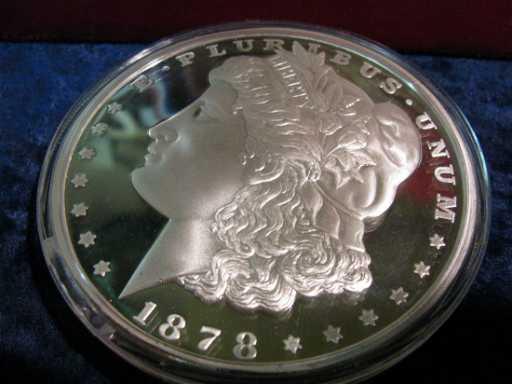 1878 Large Morgan Silver Dollar Replica One Pound